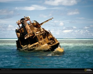 shipwreck on Tubbataha